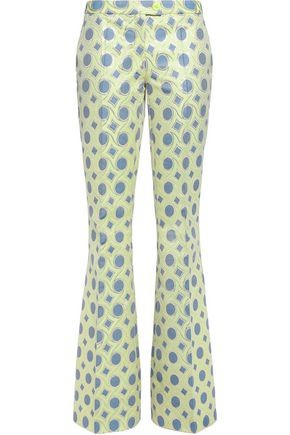 BOUTIQUE MOSCHINO Metallic cotton-blend jacquard bootcut pants