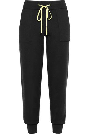 DUFFY Cotton and cashmere-blend tapered pants