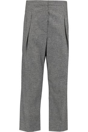 BRUNELLO CUCINELLI Houndstooth wool and cashmere-blend tapered pants