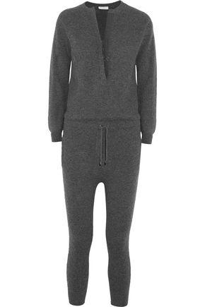 BRUNELLO CUCINELLI Embellished ribbed cashmere jumpsuit