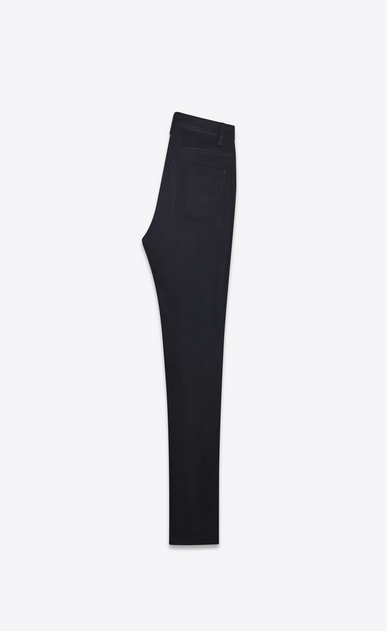 SAINT LAURENT Skinny fit Woman Mid-rise skinny jeans in black stretch denim b_V4