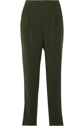 MAX MARA Pleated crepe tapered pants