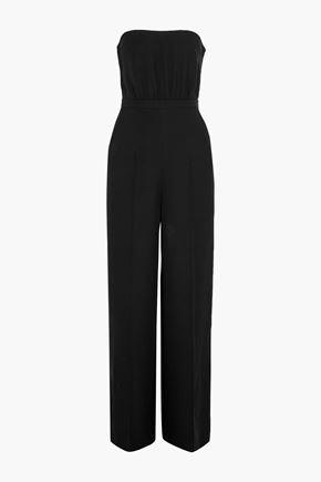 VALENTINO Cutout silk-cady jumpsuit