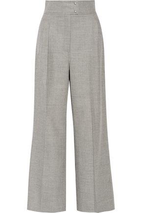 BARBARA CASASOLA Stretch-cashmere and wool-blend wide-leg pants