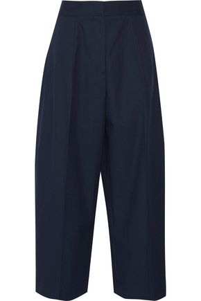 JIL SANDER Cotton-canvas wide-leg pants