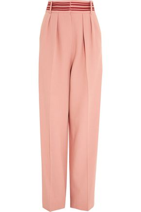 ROKSANDA Tillae striped cady wide-leg pants