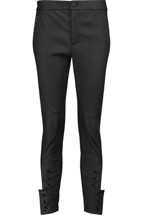 BOTTEGA VENETA Leather straight-leg pants