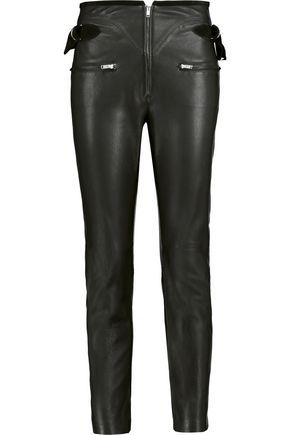 ISABEL MARANT Florrie leather slim-leg pants
