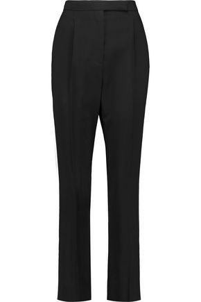 VALENTINO Stretch wool-crepe straight-leg pants