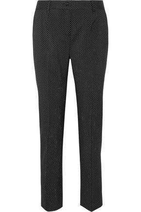 DOLCE & GABBANA Polka-dot wool slim-leg pants