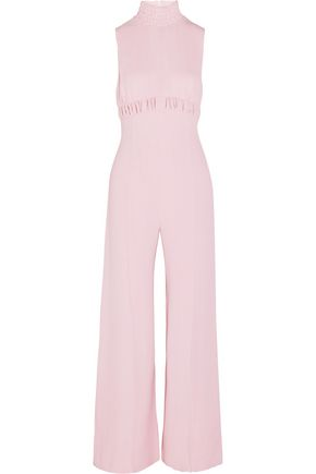 EMILIA WICKSTEAD Hulla shirred crepe jumpsuit