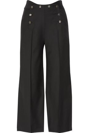 TEMPERLEY LONDON Opus twill wide-leg pants