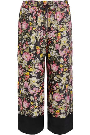 3.1 PHILLIP LIM Cropped printed silk-twill wide-leg pants