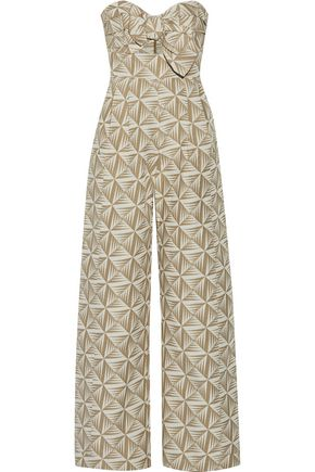 JOHANNA ORTIZ Javari strapless knotted jacquard jumpsuit