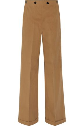 JIL SANDER Cotton-twill wide-leg pants