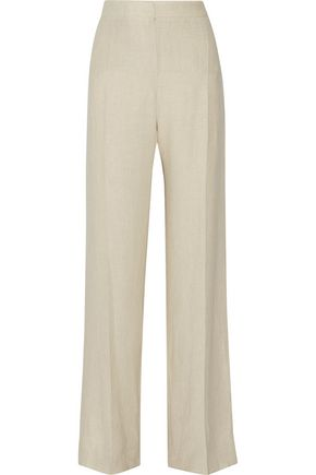 MAX MARA Slub linen wide-leg pants