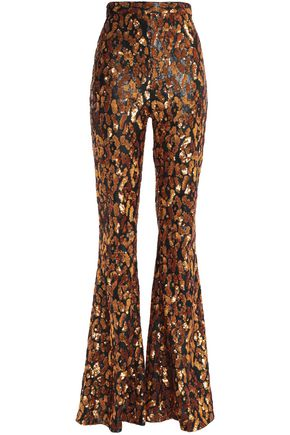 BALMAIN Sequinned flared pants