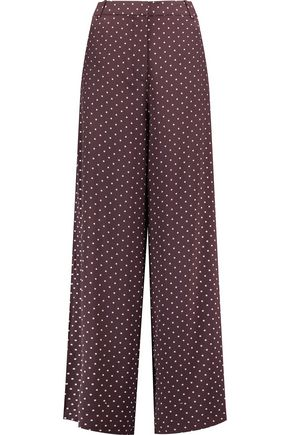 ZIMMERMANN Karmic polka-dot silk wide-leg pants