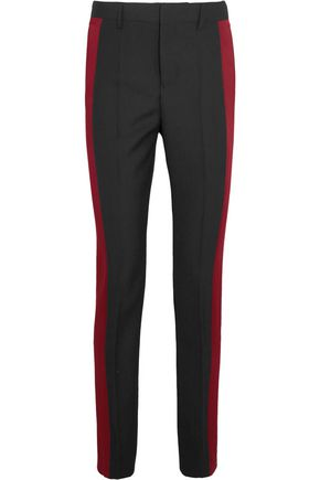 HAIDER ACKERMANN Satin-paneled wool-crepe tapered pants
