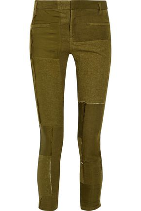 HAIDER ACKERMANN Patchwork leather skinny pants
