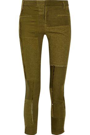 HAIDER ACKERMANN Patchwork leather skinny pants