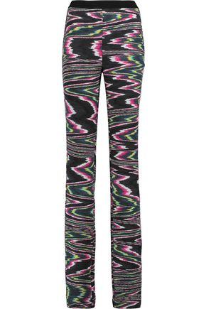 MISSONI Wool-blend jacquard straight-leg pants