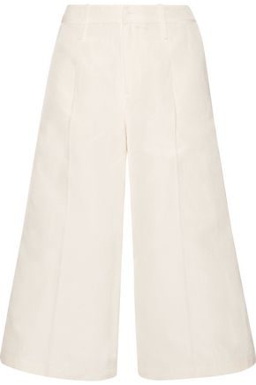 CO Cropped silk, linen and cotton-blend faille wide-leg pants