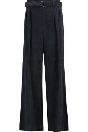 BRUNELLO CUCINELLI Suede wide-leg pants