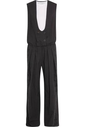BRUNELLO CUCINELLI Layered wool-blend crepe jumpsuit
