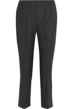 BRUNELLO CUCINELLI Cropped checked wool tapered pants