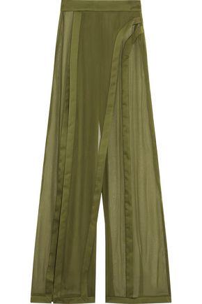 BALMAIN Silk wide-leg pants