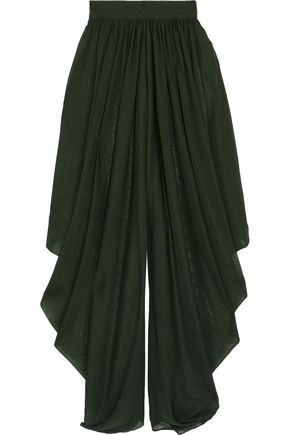 BALMAIN Gathered stretch-knit culottes