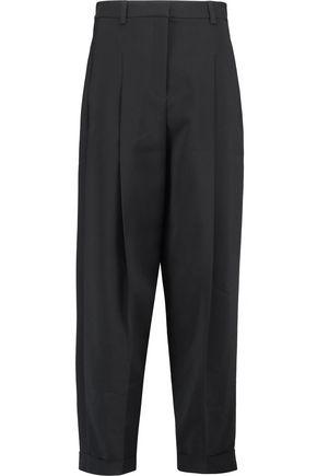 DKNY Pleated crepe straight-leg pants
