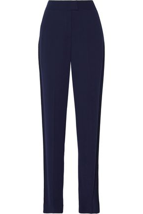 JASON WU Cotton-trimmed crepe wide-leg pants