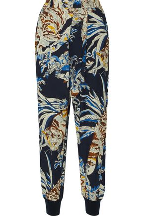 STELLA McCARTNEY Joey printed crepe tapered pants