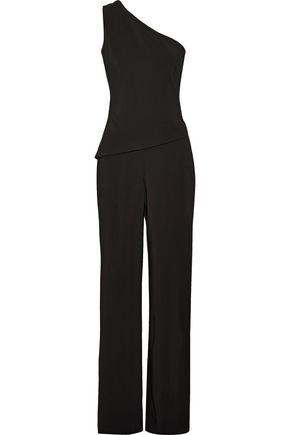 CUSHNIE ET OCHS One-shoulder layer-effect stretch-cady jumpsuit