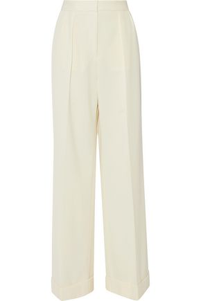 STELLA McCARTNEY Giorgi pleated wool-twill wide-leg pants