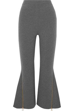 STELLA McCARTNEY Embellished cropped stretch wool-blend bootcut pants