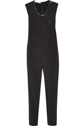 STELLA McCARTNEY Ferida embellished crepe jumpsuit
