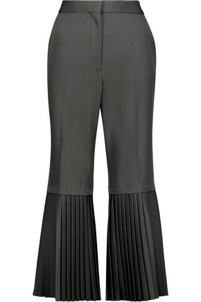 STELLA McCARTNEY Imilia cropped pleated wool flared pants