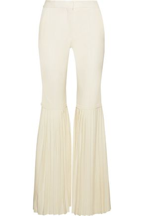 STELLA McCARTNEY Chellini pleated wool-twill flared pants