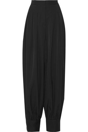 STELLA McCARTNEY Giulietta pleated wool-crepe tapered pants