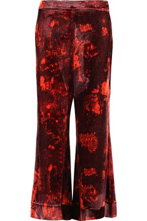 ELLERY Printed velvet culottes