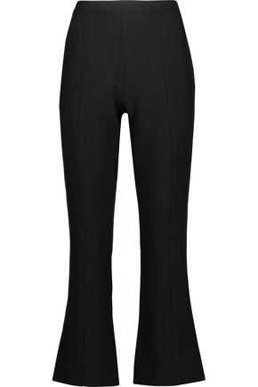 CINQ À SEPT Onyx cropped crepe bootcut pants