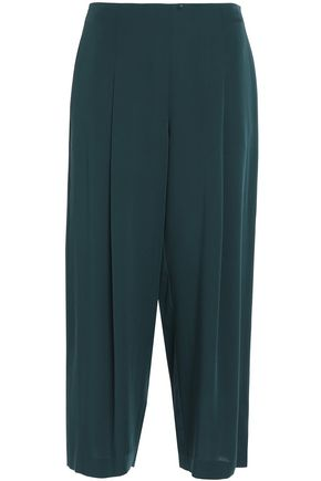 THEORY High-rise silk culottes