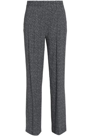THEORY Pleated bouclé straight-leg pants