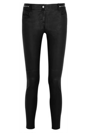 GIVENCHY Zip-detailed leather skinny pants