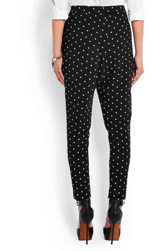 Tapered pants in cross-print black cady | GIVENCHY | Sale up to 70% off |  THE OUTNET