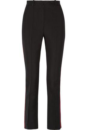GIVENCHY Skinny pants in black grain de poudre wool