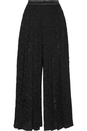 GIVENCHY Pleated lace culottes